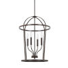 This item: HomePlace Greyson Bronze 16-Inch Four-Light Pendant