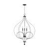 This item: Sonnet Matte Black 30-Inch Four-Light Foyer Pendant