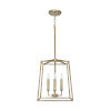 This item: Thea Aged Brass Four-Light Foyer Pendant