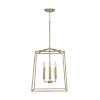 This item: Thea Aged Brass 71-Inch Four-Light Foyer Pendant