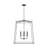 This item: Thea Matte Black 78-Inch Four-Light Foyer Pendant