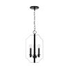 This item: HomePlace Myles Matte Black 10-Inch Four-Light Foyer Pendant