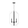 This item: HomePlace Myles Matte Black Four-Light Foyer Pendant