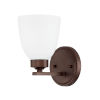 This item: HomePlace Jameson Bronze Nine-Inch One-Light Wall Sconce