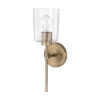 This item: HomePlace Greyson Aged Brass 16-Inch One-Light Wall Sconce