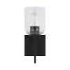 This item: HomePlace Carter Matte Black Sconce with Clear Seeded Glass