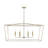 This item: Thea Aged Brass Six-Light Island Pendant