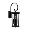 This item: Howell Black Three-Light Outdoor Wall Lantern