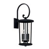 This item: Howell Black Four-Light Outdoor Wall Lantern