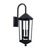This item: Ellsworth Black 10-Inch Three-Light Outdoor Wall Lantern
