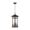 This item: Mission Hills Oiled Bronze Three-Light Outdoor Hanging Lantern