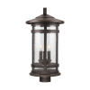 This item: Mission Hills Oiled Bronze Three-Light Outdoor Post Lantern