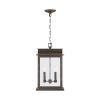 This item: Bolton Oiled Bronze Two-Light Outdoor Hanging Pendant with Antiqued Glass