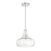 This item: Polished Nickel 10-Inch One-Light Mini Pendant