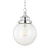 This item: Polished Nickel 18-Inch One-Light Mini Pendant