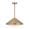 This item: Polaris Aged Brass One-Light Pendant