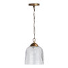 This item: Newport Patinaed Brass Clear Hammered Glass One-Light Mini Pendant