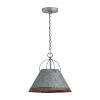 This item: Alvin Antique Galvanized Metal Cone One-Light Pendant