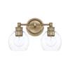 This item: Mid-Century Aged Brass Two-Light Bath Vanity