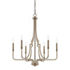This item: Dawson Aged Brass Six-Light Chandelier