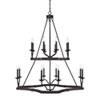 This item: Ravenwood Black Iron 16-Light Chandelier