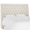 This item: California King Linen Talc 78-Inch Nail Button Tufted Wingback Headboard