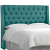 This item: California King Linen Laguna 78-Inch Nail Button Tufted Wingback Headboard