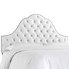 This item: King Velvet White 78-Inch Nail Button Tufted Arch Headboard