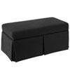 This item: Linen Black 36-Inch Storage Bench