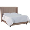 This item: Twin Shantung Dove 47-Inch Twin Pleated Wingback Bed