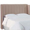 This item: Full Shantung Dove 61-Inch Pleated Wingback Headboard