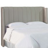 This item: Full Shantung Silver 61-Inch Pleated Wingback Headboard
