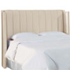 This item: California King Shantung Parchment 79-Inch Pleated Wingback Headboard