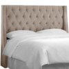 This item: Mystere Mondo Tufted Wingback Queen Headboard with Welt