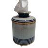 This item: Blue White Gold Line Tissue Box