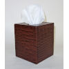 This item: Brown Leather Tissue Box