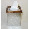 This item: Nickel Bamboo Tissue Box