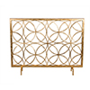 This item: Antique Gold Circles Fireplace Screen