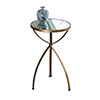 This item: Antique Gold Accent Table with Mirror Top