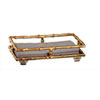This item: Gold Bamboo Guest Towel Holder