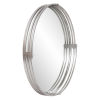 This item: Demir Bright Silver Round Wall Mirror