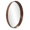 This item: Reagan Reddish Brown Round Wall Mirror