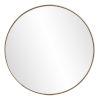 This item: Jaxtyn Matte Bronze Round Wall Mirror