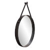 This item: Huntley Brushed Black Round Wall Mirror