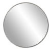 This item: Copenhagen Brushed Silver Round Wall Mirror