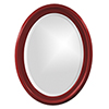 This item: George Glossy Red Oval Mirror