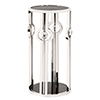 This item: Stainless Steel Pedestal with Black Tempered Glass and Acrylic Ball Details, Small