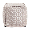 This item: Square Pouf Trellis Slate