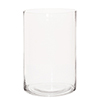 This item: Clear Hand Blown Glass Cylinder Vase, Wide