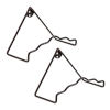 This item: Roman Bronze Powdercoat 8-Inch Plate Wall Hanger, Set of Two